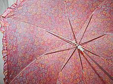 Зонт-трость женский купол гриб красный, фото 3