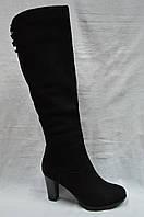 Черные замшевые зимние сапоги Geronea., фото 1