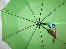 Зонт женский SR полуавтомат c клапаном антиураган и проявляющемся рисунком серый, фото 2