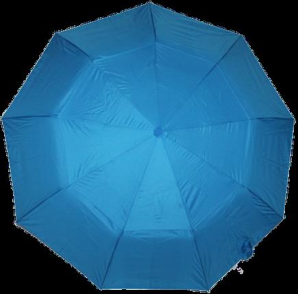 Зонт женский SR полуавтомат c клапаном антиураган и проявляющемся рисунком сине-голубой, фото 2