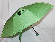 Зонт жіночий SR напівавтомат c клапаном антиураган і проявляється малюнком синьо-блакитний, фото 3