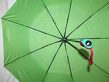 Зонт жіночий SR напівавтомат c клапаном антиураган і проявляється малюнком синьо-блакитний, фото 2
