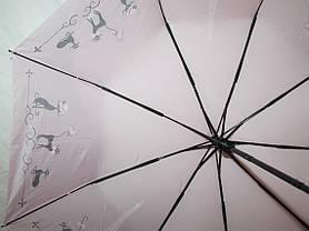 Зонт женский FIABA 708 5653 антиветер полуавтомат, фото 3