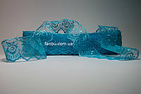 Кружево голубое, ширина 4 см