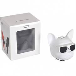 Портативна Колонка Голова собаки 597-5(White) Білий