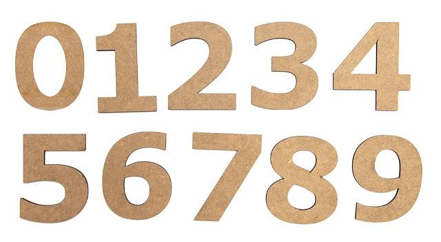 Набор заготовок Цифра ''1'', МДФ, высота 10см, 5шт, ROSA Talent