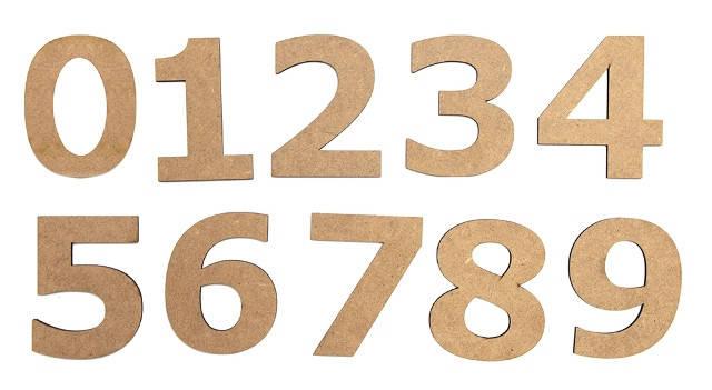 Набор заготовок Цифра ''1'', МДФ, высота 10см, 5шт, ROSA Talent, фото 2