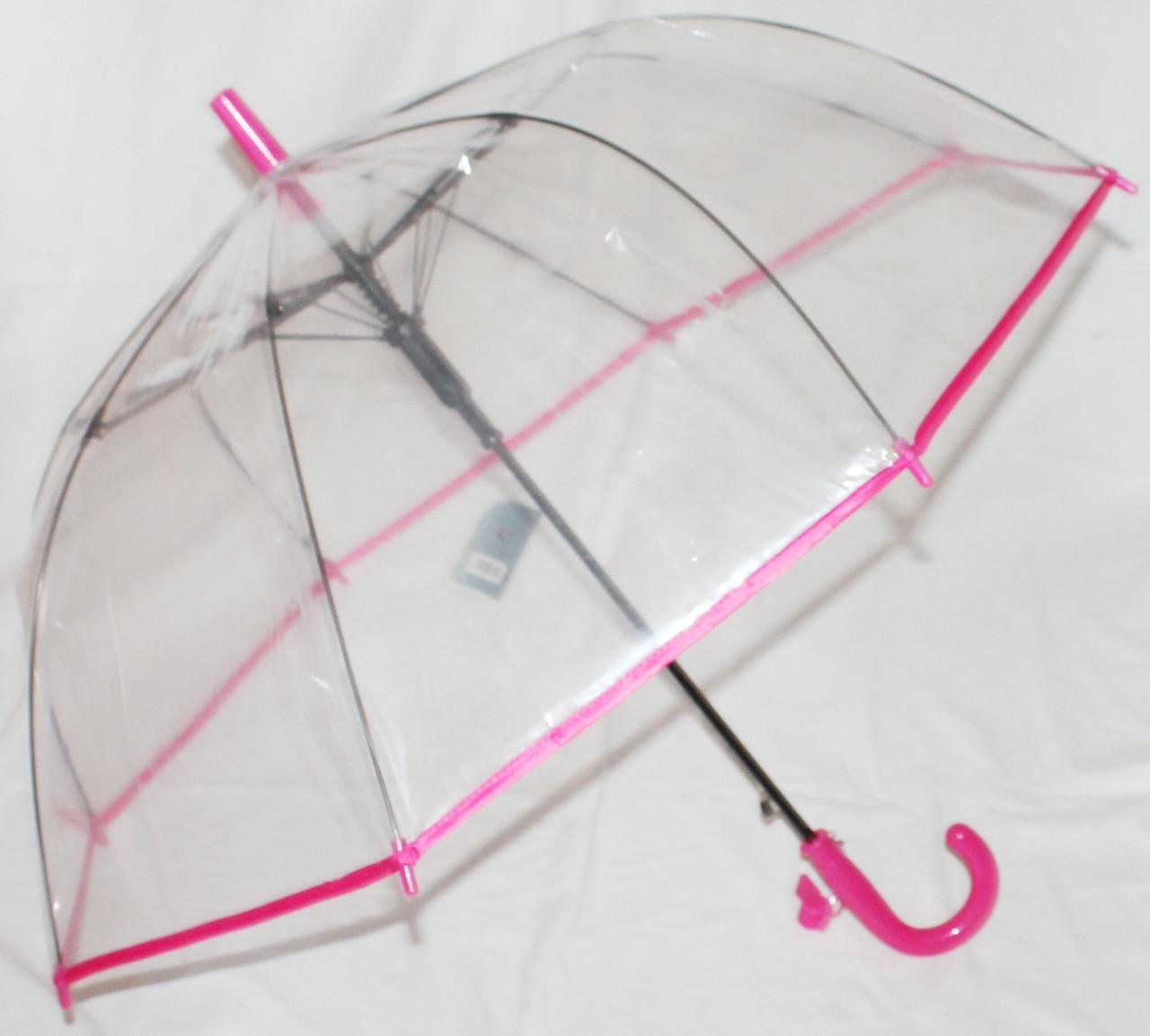Зонт-трость детский Fiaba K312 прозрачный красный