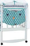 Детская постель Babyroom Classic Bortiki-01 (8 элементов)  бирюзовый (лес), фото 3
