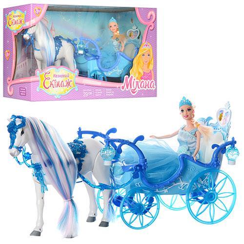 """Карета с принцессой и лошадью """"Сказочный экипаж"""" 223A"""