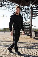 Мужской спортивный костюм Nike (реплика) трикотажный черного цвета