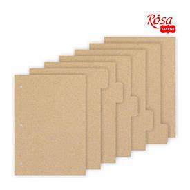 Заготовка для блокнотa №2, картон, 16,3x21,5см, 7ст., ROSA TALENT
