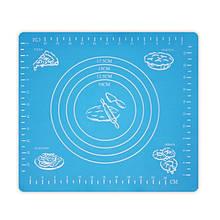Коврик-подложка для раскатывания теста, 29*26 см, голубой
