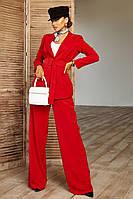 Женский брючный костюм пиджак брюки красный , 4 цветов, хс,с,м,л