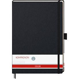 Записна книга блокнот Brunnen Компаньйон А4 192л точка чорний (10-552 89 05)