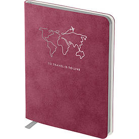 Записна книга блокнот Axent Nuba Soft 115х160 мм 96арк клітина бордовий (8604-05-A)