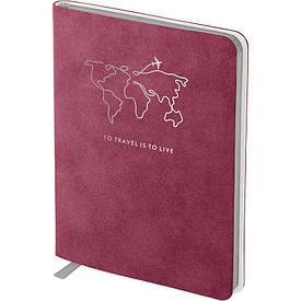 Записная книга блокнот Axent Nuba Soft 115х160 мм 96л клетка бордовый (8604-05-A)