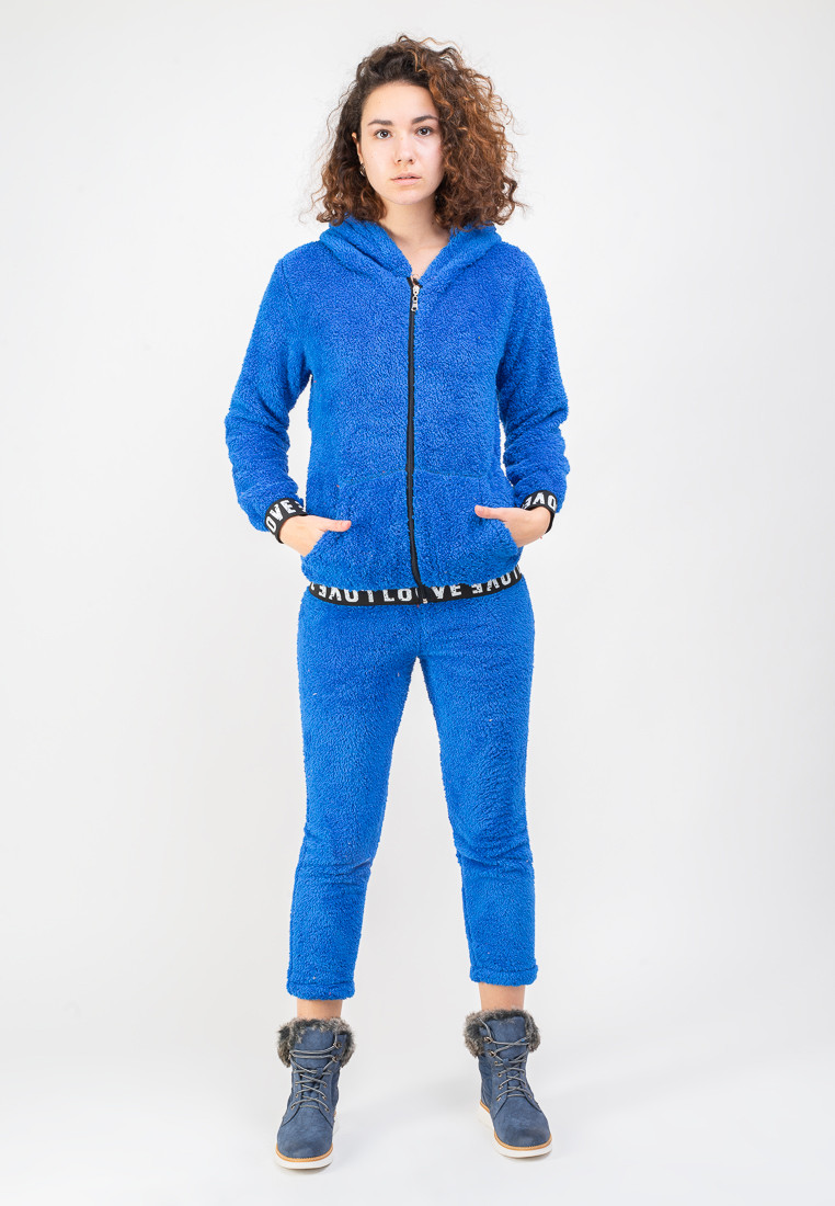 Женский теплый спортивный костюм (брюки+кенгурушка) BLANCO M Синий