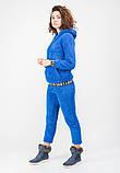 Женский теплый спортивный костюм (брюки+кенгурушка) BLANCO M Синий, фото 2