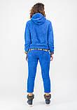 Женский теплый спортивный костюм (брюки+кенгурушка) BLANCO L Синий, фото 3