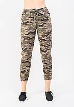 Женские брюки JOYTREND XL Коричнево-зеленые