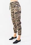 Женские брюки JOYTREND XL Коричнево-зеленые, фото 2