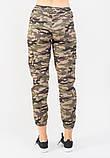 Женские брюки JOYTREND XL Коричнево-зеленые, фото 3