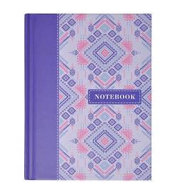 Записная книга блокнот А6 Buromax ETHNO 64л. клетка синий твердая обл. (BM.24614104-02)