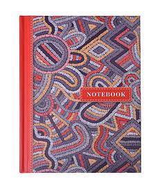 Записная книга блокнот А6 Buromax WEAVE 64л. клетка красный твердая обл. (BM.24614103-05)