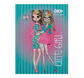 Записная книга блокнот А6 ZiBi CUTE GIRL 64л. клетка бирюзовый твердая обл. (ZB.12715-06)