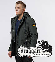 Braggart Arctic 1533   Мужская стильная парка хаки 54 (XXL)