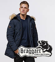 Braggart Arctic 3986   Зимняя мужская парка синяя 3986