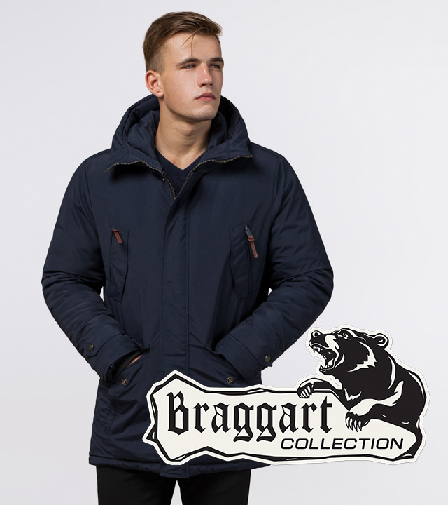 Braggart Arctic 47450   Зимняя мужская парка синяя