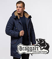 Braggart Arctic 90520   Зимняя парка с капюшоном синяя 52 (XL)54 (XXL)