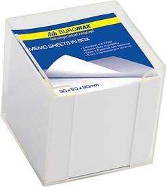 Куб з папером непроклеенный білий прозорий BM.2290-03