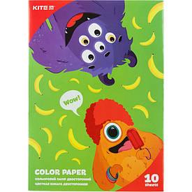 Папір кольоровий двустор. (10 л/10 кол.), А5 Kite Jolliers