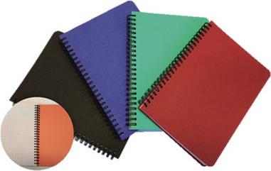 Декоративний блокнот на спіралі А6, 96арк, з закладками, в клітку, колір в асортименті, SMILTAINIS