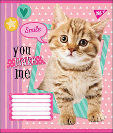 Зошит в клітку 12л YES YOU MAKE ME SMILE мікс 4 обкладинки (764481)