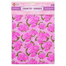 Папір для декупажу, Country garden, 2 листи 40x60 см