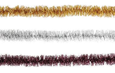 Новорічна гірлянда мішура Yes Fun Вейви-флекс дощик 25ммх2м матовий мікс (980087)