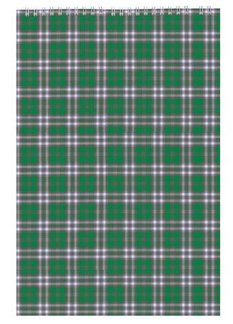 Записная книга блокнот Buromax A4,48 листов клетка картонная обложка спираль зеленый BM.2460-04, фото 2
