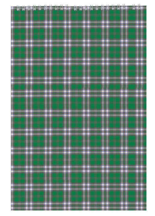 Записная книга блокнот Buromax A4,48 листов клетка картонная обложка спираль зеленый BM.2460-04