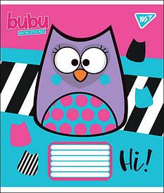 Тетрадь в косую 12л YES BUBU микс 4 обложки (764506)