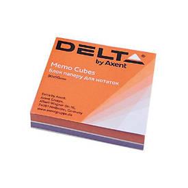Блок паперу для нотаток непроклеенный Axent 80х80х20мм асорті кольорів D8022