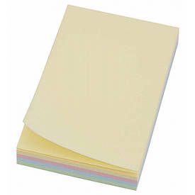Папір з липким шаром 75х50мм 4-кольор. 100л L1208