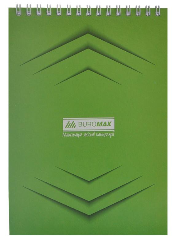 Записная книга блокнот Buromax Jobmax A5 48 л клетка на пружине зеленый (BM.2474-04)