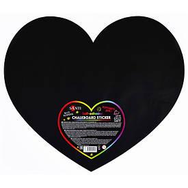 Меловый самоклеящийся стикер ''Сердце'', 49x42 см, 1 шт.