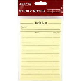 Блок паперу з липким шаром Task list 100x150 мм, 100 л.