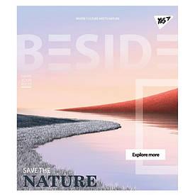 Тетрадь для записей А5/24 лин.  YES ''BESIDE'' иридиум+УФ.спл.