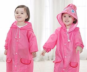 Дождевики детские на кнопках  Funny rain coat